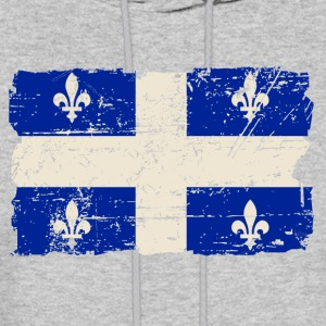 Quebec Flag - Vintage Look Hoodies - Men's Hoodie