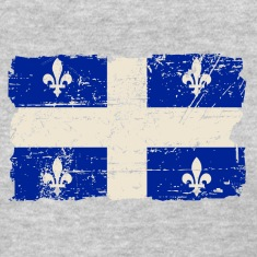 Quebec Flag - Vintage Look Women's T-Shirts