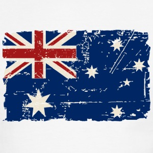 Australia Flag - Vintage Look T-Shirts - Men's Ringer T-Shirt