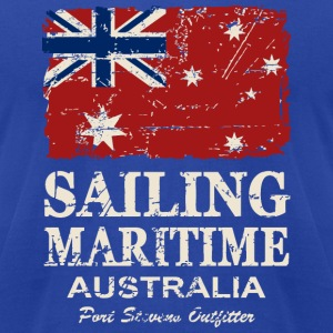 Australia Maritime  Flag - Vintage Look T-Shirts - Men's T-Shirt by American Apparel
