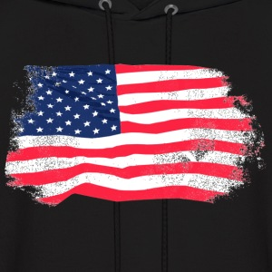USA Flag - Vintage Look Hoodies - Men's Hoodie