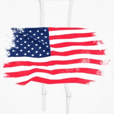 USA Flag - Vintage Look Hoodies