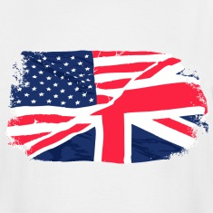 USA - Union Jack Flag - Vintage Look T-Shirts