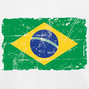 Brazil Flag - Vintage Look T-Shirts - Men's T-Shirt by American Apparel