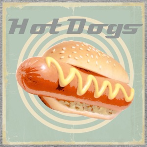 Retro hot dog - Men's Premium T-Shirt