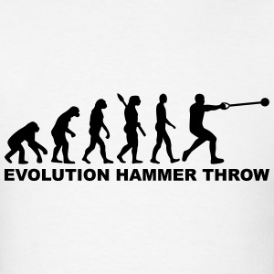 Evolution Hammer throw T-Shirts - Men's T-Shirt