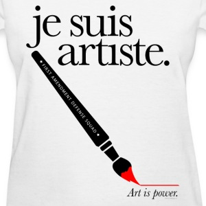 je suis artiste - Art is Power. - Women's T-Shirt