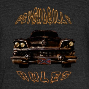 Psychobilly Rules Hotrod T-shirt - Unisex Tri-Blend T-Shirt by American Apparel