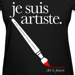 je suis artiste - Art is Power. Women's T-Shirts - Women's T-Shirt