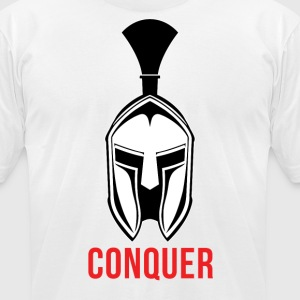 Spartan - Conquer - Men's T-Shirt by American Apparel
