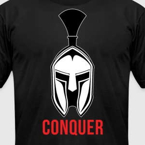 Spartan Helmet - Conquer T-Shirts - Men's T-Shirt by American Apparel