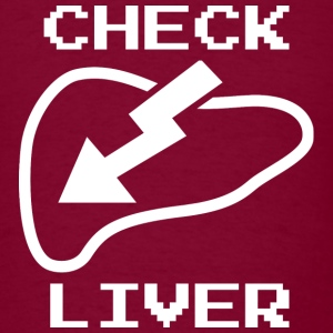 Check Liver - Men's T-Shirt