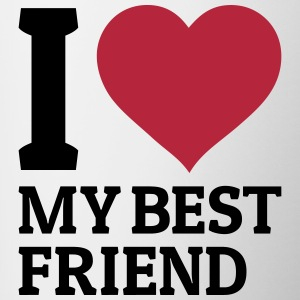 I love my best friend Mugs & Drinkware - Contrast Coffee Mug