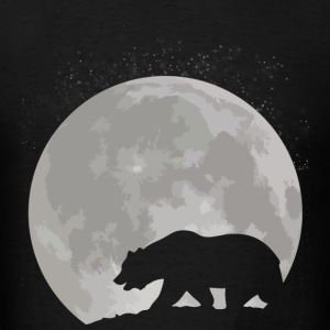 California Bear and Moon - Men's T-Shirt