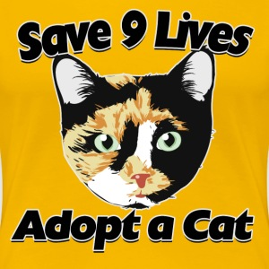 Adopt a cat calico adoption - Women's Premium T-Shirt