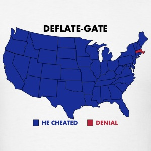 Deflate-Gate USA Map Voters Poll T-Shirts - Men's T-Shirt