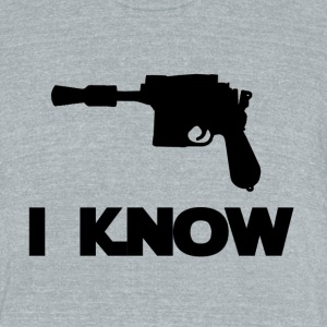 I Know_Star Wars Couple - Unisex Tri-Blend T-Shirt by American Apparel