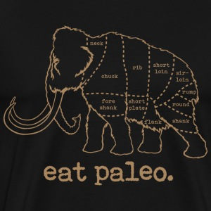 Eat Paleo Woolly Mammoth Butcher Tee - Men's Premium T-Shirt