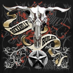 Chrome Cow Skull Rockabilly Rules