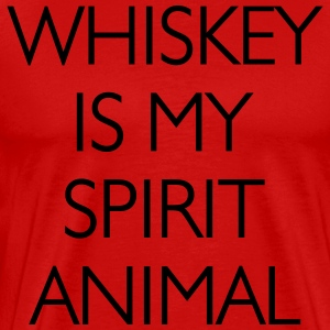 Whisky Is My Spirit Animal T-Shirts - Men's Premium T-Shirt