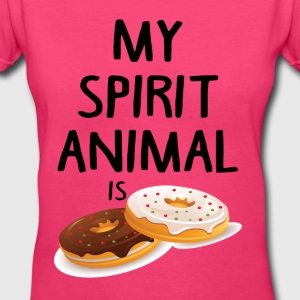 My Spirit Animal Is Douts Women's T-Shirts - Women's V-Neck T-Shirt