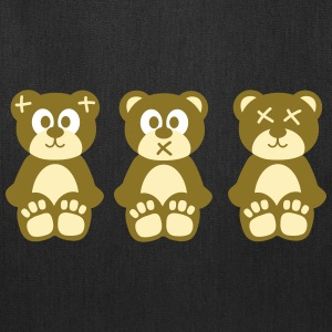 Three wise monkeys teddy bears Bags & backpacks - Tote Bag