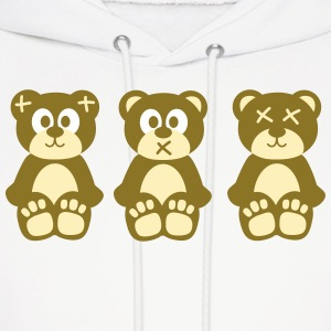 Three wise monkeys teddy bears Hoodies - Men's Hoodie