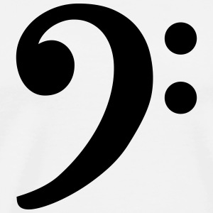 Bass Clef T-Shirt (White/Black) - Men's Premium T-Shirt