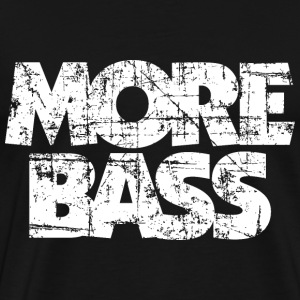 More Bass T-Shirt (Black/White Vintage) - Men's Premium T-Shirt