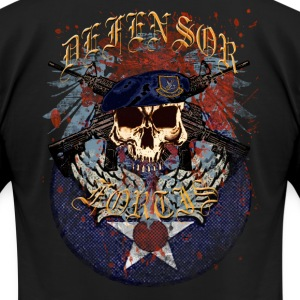 Security Forces Skull Defensor Fortis - Men's T-Shirt by American Apparel