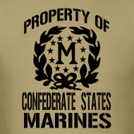 Design ~ Property Confederate States Marines Mens Gildan Shirt