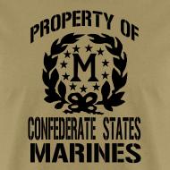 Design ~ Property Confederate States Marines Mens Gildan Shirt