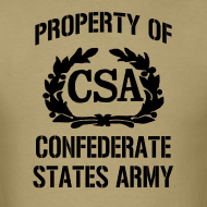 Design ~ Property Of Confederate States Army Mens Gildan Shirt