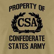 Design ~ Property Of Confederate States Army Mens Gildan Shirt