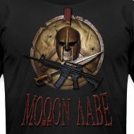 Design ~ Spartan Skull Helmet Shield Sword: Molon Labe American Apparel Mens T