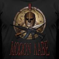 Design ~ Spartan Skull Helmet Shield Sword: Molon Labe American Apparel Mens T