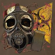Design ~ Biohazard Skull Gas Mask Mens Premium T Shirt
