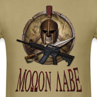 Design ~ Spartan Skull Helmet Shield Sword: Molon Labe Mens Basic T