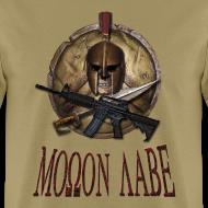 Design ~ Spartan Skull Helmet Shield Sword: Molon Labe Mens Basic T