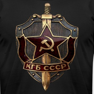 KGB Badge - Men's T-Shirt by American Apparel