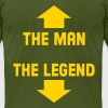 The Man-Legend T-Shirts - Men's T-Shirt by American Apparel