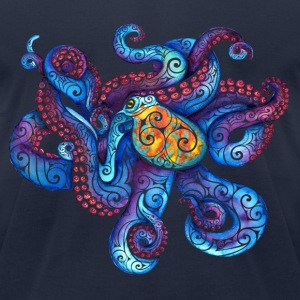 Swirly Octopus T-Shirts - Men's T-Shirt by American Apparel