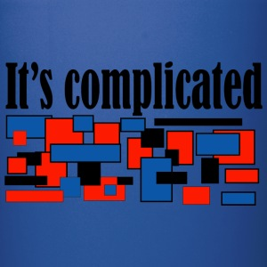 it is complicated - Full Color Mug
