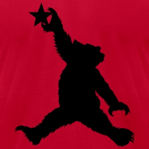 Cali Black Bear Getting Air - Men's T-Shirt by American Apparel