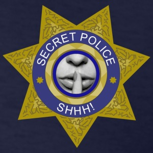 Secret Police Shhh! T-Shirts - Men's T-Shirt
