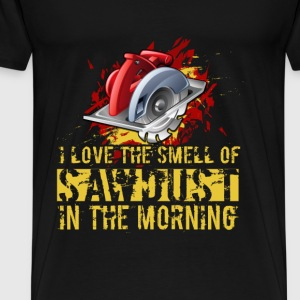 Carpenter T-shirt - Sawdust in the morning - Men's Premium T-Shirt