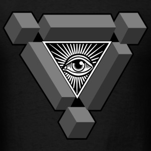 3D Freemasonry Illuminati eye of providence - Men's T-Shirt