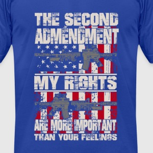 The second admendment, my rights are than feelings - Men's T-Shirt by American Apparel