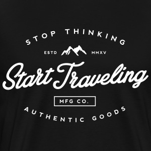 Start Travelling T-Shirts - Men's Premium T-Shirt
