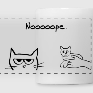 Angry Cat and the New Kitten - Panoramic Mug